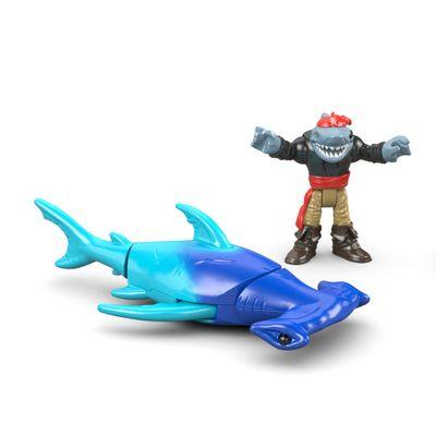 Boneco Imaginext - Pirata - Hammerhead Shark  - Mattel - Boneco Imaginext - Pirata - Capitão Kidd - Mattel Copy