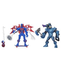 Bonecos-Marvel---Super-Hero-Mashers---Spider-Man-2099-Vs-Rhino---Hasbro---Disney