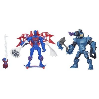 Bonecos Marvel - Super Hero Mashers - Spider-Man 2099 Vs Rhino - Hasbro - Disney