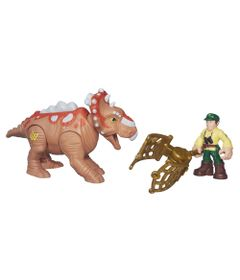 Figura-Jurassic-World---Dinossauro-Pachyrhinosaurus-e-Cacador---Playskool-Heroes---Hasbro