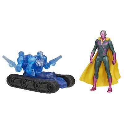 Boneco Marvel Avengers - Age of Ultron 6,35 cm - Visão vs Sub-Ultron 001 - Hasbro - Disney