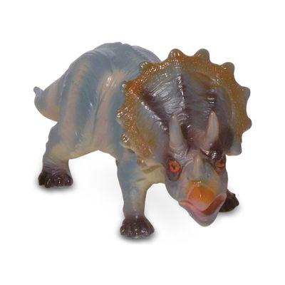 Figura de Dinossauro - 10 cm - Bicho Mundi - Tricerátopo - DTC