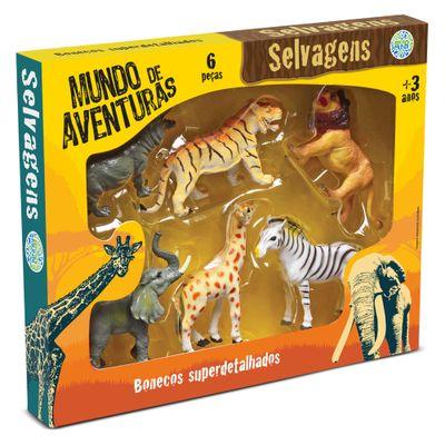 Conjunto de Figuras Mundo de Aventuras - 6 peças - Bicho Mundi Selvagens - DTC