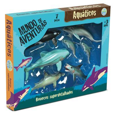 Conjunto de Figuras Mundo de Aventuras - 6 peças - Bicho Mundi Aquáticos - DTC