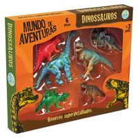 Conjunto-de-Figuras-Mundo-de-Aventuras---6-pecas---Bicho-Mundi-Dinossauros---DTC