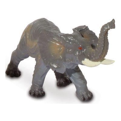 Figura de Animal - 12 cm - Bicho Mundi - Animais da Selva - Elefante - DTC