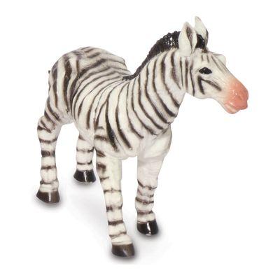 Figura de Animal - 12 cm - Bicho Mundi - Animais da Selva - Zebra - DTC