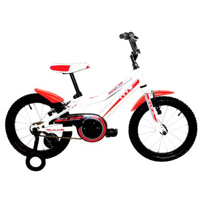 Bicicleta ARO 16 - MTB Volt 1.6 - Branca e Vermelha - Tito Bikes