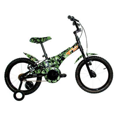 Bicicleta ARO 16 - Camuflada - Verde - Tito Bikes