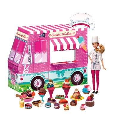 Conjunto Barbie Massinhas - Food Truck - Sorvetes e Delícias Divertidas - Fun