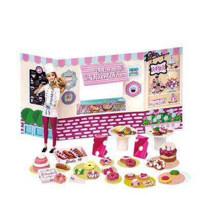 Conjunto Barbie Massinhas - Food Truck - Doceria e Delícias Divertidas - Fun