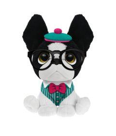 Pelucia-Perfumada---Trend-Dog---P---10-cm---Branco-Roupinha-Verde---Fun-8006-6-frente
