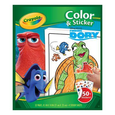 Livro de Colorir com Adesivos - Procurando Dory - Crayola