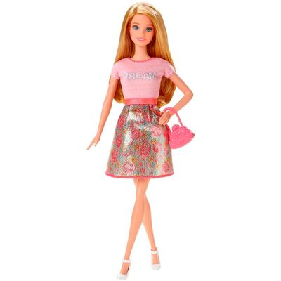 Boneca Barbie Fashionistas - Saia Floral e Camisa Dream - Mattel