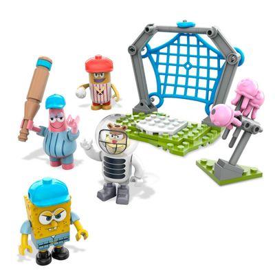 Conjunto Mega Bloks - Bob Esponja - Basebol de Medusas - Mattel