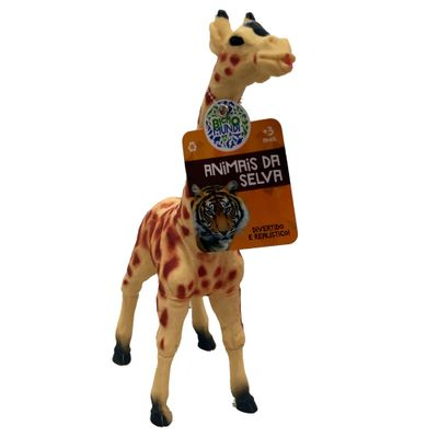 Figura de Animal - 12 cm - Bicho Mundi - Animais da Selva - Girafa - DTC