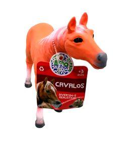 Figura-de-Cavalo---15-cm---Bicho-Mundi---Cavalos---Laranja-e-Branco---DTC