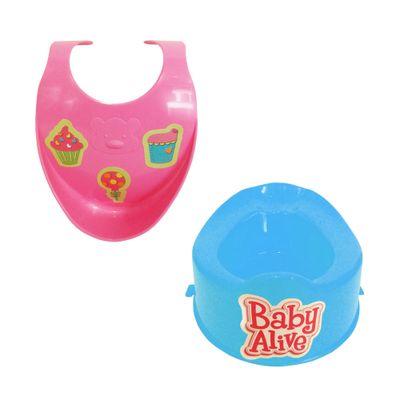 Acessórios para Boneca Baby Alive - Babador e Penico Azul - Cotiplás