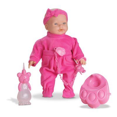 Boneca - New Mini Bebê Mania Xixi - Branca - Roma Jensen