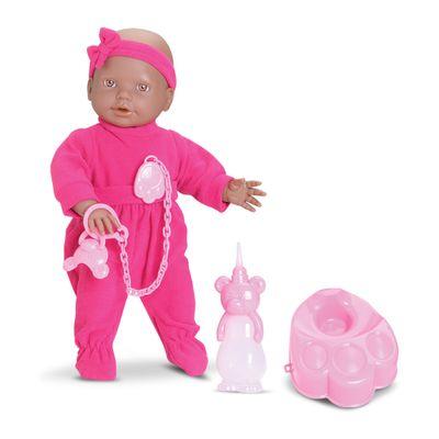 Boneca - New Mini Bebê Mania Xixi - Negra - Roma Jensen