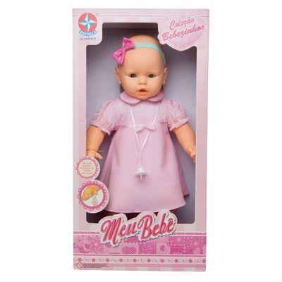 Boneca - Meu Bebê - Vestido Rosa - Estrela
