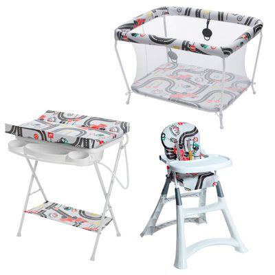 Conjunto-Cadeira-Alta-Banheira-com-Trocador-e-Cercado---Formula-Baby---Galzerano