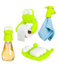Conjunto-com-Porta-Papel-Higienico-Dispenser-e-Saboneteira-e-Porta-Toalha---Sapo---Tinok
