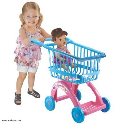 Carrinho de Compras - Baby Alive - Azul e Rosa - Líder