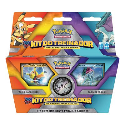 Deck Pokémon - Kit do Treinador - Pikachu Mascarada e Suicune - Copag