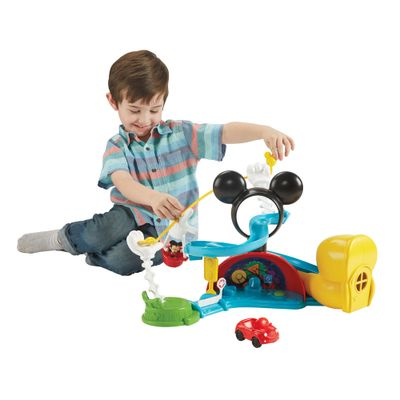 Playset e Figuras - A Casa do Mickey Mouse - Escorregador do Mickey - Fisher-Price