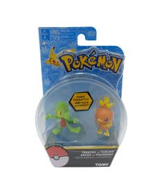 Mini-Figuras-Pokemon---Treecko-Vs-Torchic---Tomy