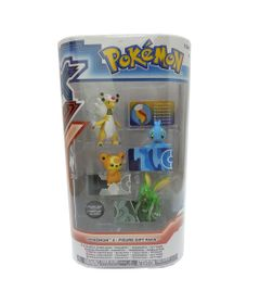 Mini-Figuras-Pokemon---4-unidades---Ampharos-Manaphy-Teddiursa-e-Scyther---Tomy