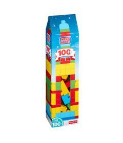 Mega-Blocks---First-Builders---Torre-de-100-pecas---Amarelo-e-Vermelho---Fisher-Price-DPY83-embalagem