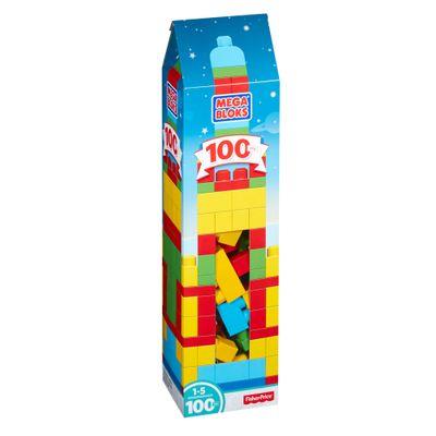 Mega Blocks - First Builders - Torre de 100 peças - Amarelo e Vermelho - Fisher-Price