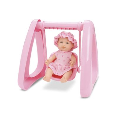 Boneca - Micro Bebê Mania - Balanço - Rosa Claro - Roma Jensen