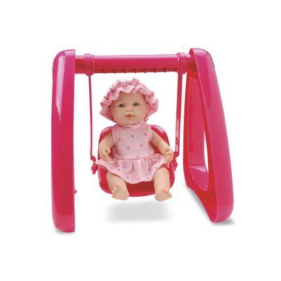 Boneca - Micro Bebê Mania - Balanço - Pink - Roma Jensen