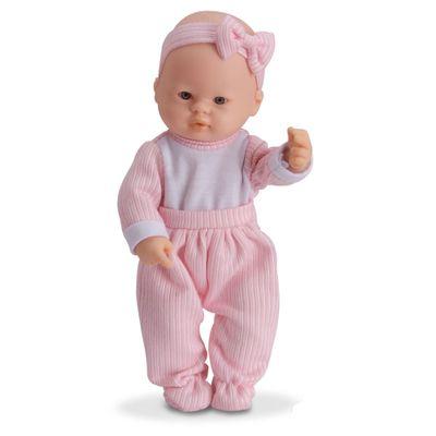 Boneca - Micro Bebê Mania - Pequenas Amigas - Calça Rosa Listrada - Roma Jensen