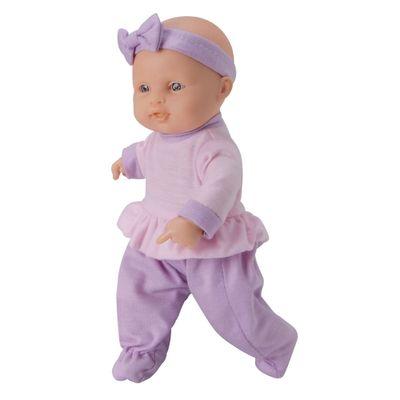 Boneca - Micro Bebê Mania - Pequenas Amigas - Roupa Lilás - Roma Jensen