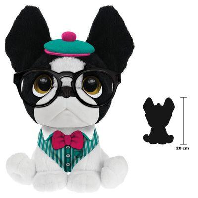 Pelucia-Perfumada---Trend-Dog---G---20-cm---Branco-Roupinha-Verde---Fun