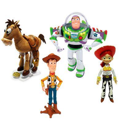 Kit 4 Figuras - Disney-Pixar - Toy Story - Woody, Jesse e Buzz Sonoros e Bala no Alvo - Toyng