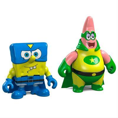 Mini Figuras Bob Esponja - Bob Esponja e Patrick Super Heróis - Fisher-Price
