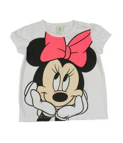 Blusa-Manga-Curta-em-Meia-Malha-com-Silk---Branca---Minnie---Disney---P