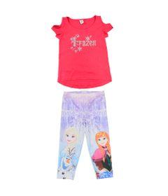 Conjunto-Blusa-Manga-Curta-em-Meia-Malha-com-Legging-em-Neoprene---Pink-e-Branco---Frozen---Disney---1