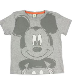 Camiseta-Manga-Curta-em-Meia-Malha---Mescla---Mickey---Disney---1