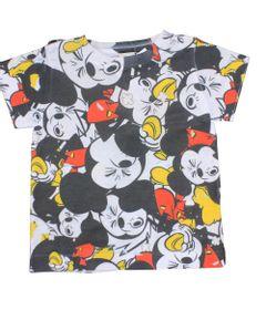 Camiseta-Manga-Curta-em-Poliester---Branca----Mickey---Disney---P