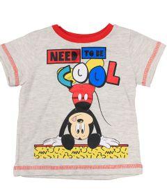 Camiseta-Manga-Curta---Mescla-Banana---Mickey---Disney---P
