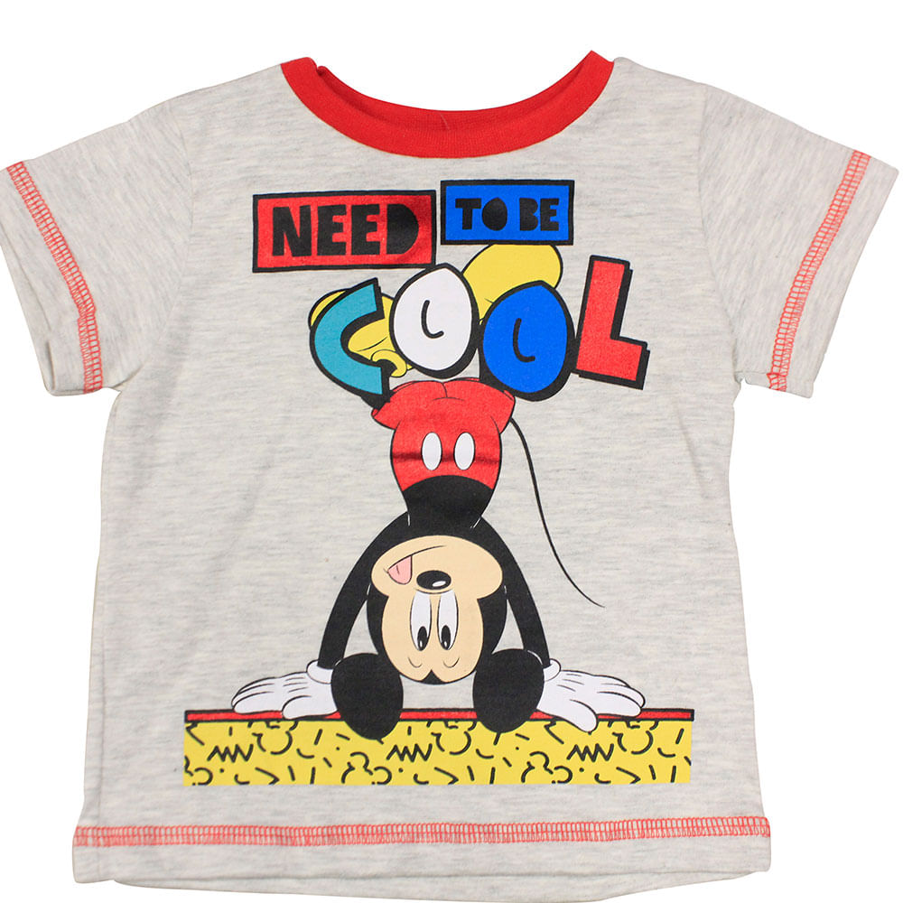 Camiseta Manga Curta - Mescla Banana - Mickey - Disney - P