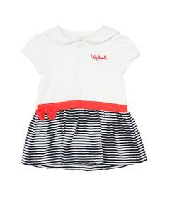 Vestido-Manga-Curta-em-Cotton---Branco-Marinho-e-Vermelho---Minnie---Disney---P