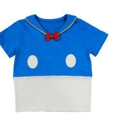 Camiseta-Fantasia-Manga-Curta-em-Meia-Malha---Azul-e-Branca---Pato-Donald---Disney---2