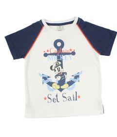 Camiseta-Manga-Curta-em-Meia-Malha---Branca-e-Marinho---Mickey-Navy---Disney---2
